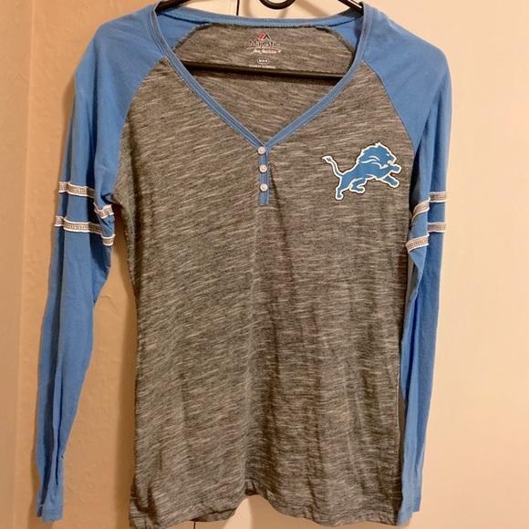 Long sleeved Detroit Lions shirt women's size M